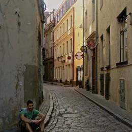 Stefan dans la vieille ville de Riga