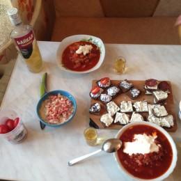 Borscht soupe russe
