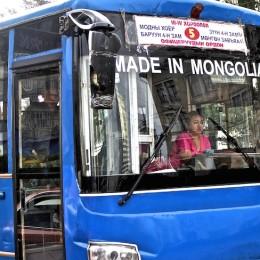 Bus fabirqué en Mongolie