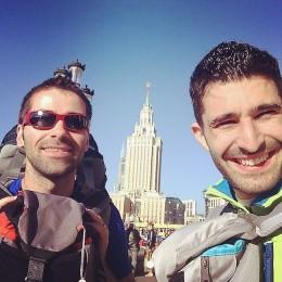 Selfie Moscou station de léningrad