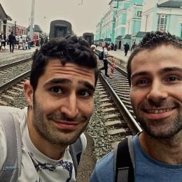 selfie plateforme transsibérien