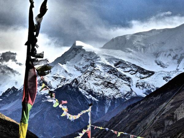 montagne Gangapurna pendant notre tour des Annapurnas