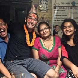 Stefan fête son anniversaire à Katmandou nepal